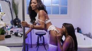 Transgender Lingerie Model Does It With a Nice Ebony Girl – Ana Foxxx, Natassia Dreams